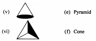 RBSE Solutions for Class 7 Maths Chapter 12 Visualizing Solid Shapes Additional Questions - 2