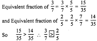 RBSE Solutions for Class 7 Maths Chapter 2 Fractions and Decimal Numbers Ex 2.1 Q2a