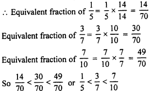 RBSE Solutions for Class 7 Maths Chapter 2 Fractions and Decimal Numbers Ex 2.1 Q3a