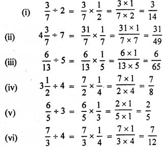 RBSE Solutions for Class 7 Maths Chapter 2 Fractions and Decimal Numbers Ex 2.3 Q3a