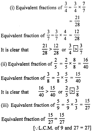 RBSE Solutions for Class 7 Maths Chapter 2 Fractions and Decimal Numbers In Text Exercise K2a