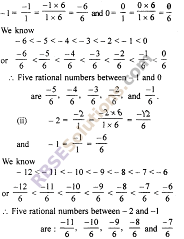 RBSE Solutions for Class 7 Maths Chapter 4 Rational Numbers Additional Questions 13