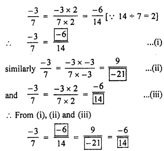 RBSE Solutions for Class 7 Maths Chapter 4 Rational Numbers Additional Questions L1c