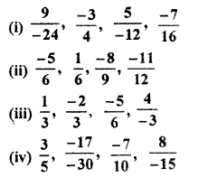 RBSE Solutions for Class 7 Maths Chapter 4 Rational Numbers Ex 4.1 10