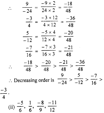 RBSE Solutions for Class 7 Maths Chapter 4 Rational Numbers Ex 4.1 10b