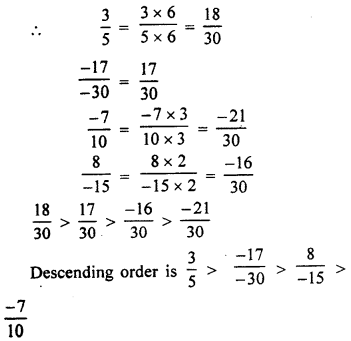 RBSE Solutions for Class 7 Maths Chapter 4 Rational Numbers Ex 4.1 10f