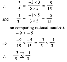 RBSE Solutions for Class 7 Maths Chapter 4 Rational Numbers Ex 4.1 6b
