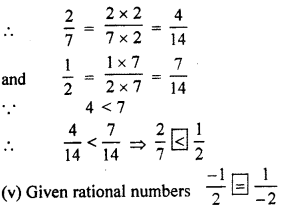RBSE Solutions for Class 7 Maths Chapter 4 Rational Numbers Ex 4.1 6c