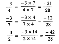 RBSE Solutions for Class 7 Maths Chapter 4 Rational Numbers Ex 4.1 9b