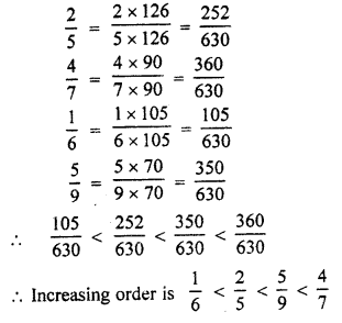 RBSE Solutions for Class 7 Maths Chapter 4 Rational Numbers Ex 4.1 9e