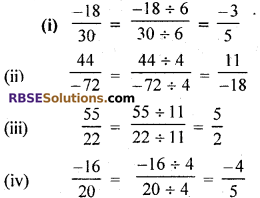 RBSE Solutions for Class 7 Maths Chapter 4 Rational Numbers Ex 4.1 img 9