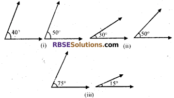 RBSE Solutions for Class 7 Maths Chapter 7 Lines and Angles In Text Exercise - 2
