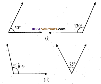 RBSE Solutions for Class 7 Maths Chapter 7 Lines and Angles In Text Exercise - 3