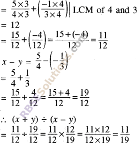 RBSE Solutions for Class 8 Maths Chapter 1 Rational Numbers Additional Questions 11
