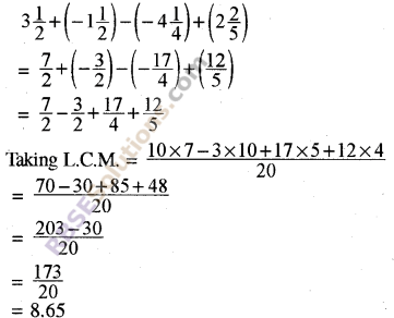 RBSE Solutions for Class 8 Maths Chapter 1 Rational Numbers Additional Questions 15
