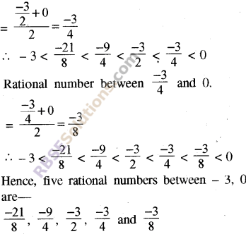 RBSE Solutions for Class 8 Maths Chapter 1 Rational Numbers Ex 1.1 36