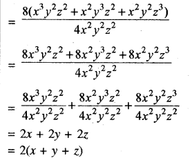 RBSE Solutions for Class 8 Maths Chapter 10 गुणनखण्ड Additional Questions Q6a