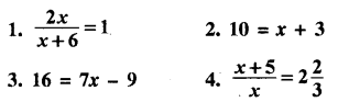 RBSE Solutions for Class 8 Maths Chapter 11 एक चर राशि वाले रैखिक समीकरण In Text Exercise Q1