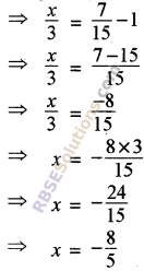 RBSE Solutions for Class 8 Maths Chapter 11 Linear Equations with One Variable Additional Questions img-1