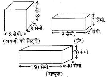RBSE Solutions for Class 8 Maths Chapter 15 पृष्ठीय क्षेत्रफल एवं आयतन Ex 15.1 Q1