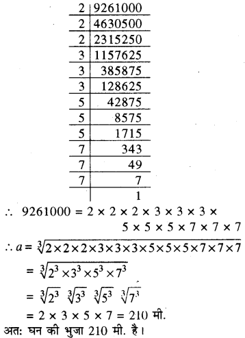RBSE Solutions for Class 8 Maths Chapter 2 घन एवं घनमूल Additional Questions Q6