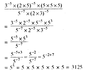 RBSE Solutions for Class 8 Maths Chapter 3 घात एवं घातांक Additional Questions L5A