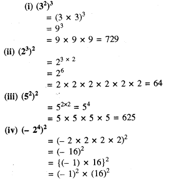 RBSE Solutions for Class 8 Maths Chapter 3 घात एवं घातांक Ex 3.1 Q6a