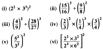 RBSE Solutions for Class 8 Maths Chapter 3 घात एवं घातांक Ex 3.1 Q9