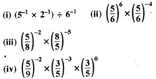 RBSE Solutions for Class 8 Maths Chapter 3 घात एवं घातांक Ex 3.2 Q1