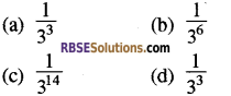 RBSE Solutions for Class 8 Maths Chapter 3 Powers and Exponents Additional Questions 1