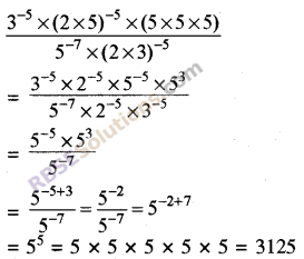 RBSE Solutions for Class 8 Maths Chapter 3 Powers and Exponents Additional Questions 13