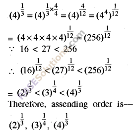 RBSE Solutions for Class 8 Maths Chapter 3 Powers and Exponents Additional Questions 9