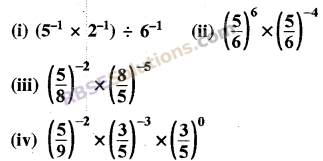 RBSE Solutions for Class 8 Maths Chapter 3 Powers and Exponents Ex 3.2 1