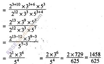 RBSE Solutions for Class 8 Maths Chapter 3 Powers and Exponents Ex 3.2 10