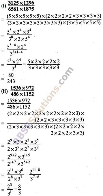 RBSE Solutions for Class 8 Maths Chapter 3 Powers and Exponents Ex 3.2 13
