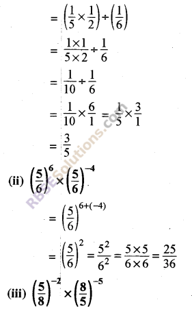 RBSE Solutions for Class 8 Maths Chapter 3 Powers and Exponents Ex 3.2 2