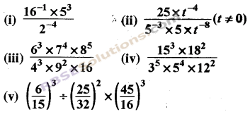 RBSE Solutions for Class 8 Maths Chapter 3 Powers and Exponents Ex 3.2 4