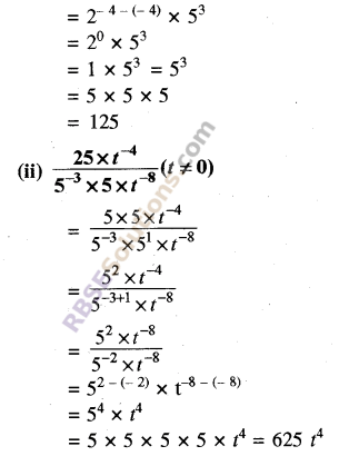 RBSE Solutions for Class 8 Maths Chapter 3 Powers and Exponents Ex 3.2 6