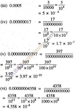 RBSE Solutions for Class 8 Maths Chapter 3 Powers and Exponents Ex 3.3 1