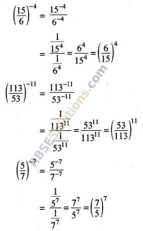 RBSE Solutions for Class 8 Maths Chapter 3 Powers and Exponents In Text Exercise 4