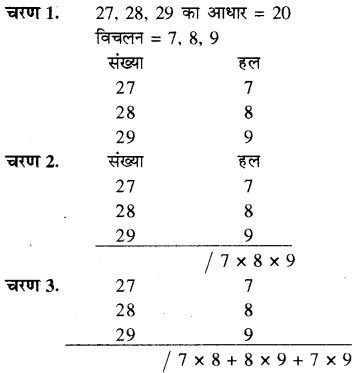 RBSE Solutions for Class 8 Maths Chapter 5 वैदिक गणित In Text Exercise 63e