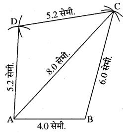 RBSE Solutions for Class 8 Maths Chapter 7 चतुर्भुज की रचना Ex 7.1 Q1A