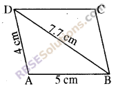 RBSE Solutions for Class 8 Maths Chapter 7 Construction of Quadrilaterals Additional Questions img-1