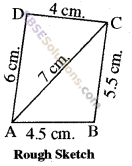 RBSE Solutions for Class 8 Maths Chapter 7 Construction of Quadrilaterals Additional Questions img-12
