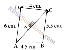 RBSE Solutions for Class 8 Maths Chapter 7 Construction of Quadrilaterals Additional Questions img-13