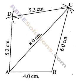 RBSE Solutions for Class 8 Maths Chapter 7 Construction of Quadrilaterals Ex 7.1 img-2