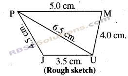 RBSE Solutions for Class 8 Maths Chapter 7 Construction of Quadrilaterals Ex 7.1 img-3