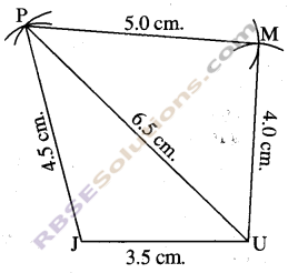 RBSE Solutions for Class 8 Maths Chapter 7 Construction of Quadrilaterals Ex 7.1 img-4
