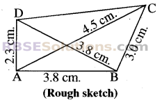 RBSE Solutions for Class 8 Maths Chapter 7 Construction of Quadrilaterals Ex 7.2 img-3