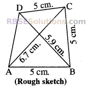RBSE Solutions for Class 8 Maths Chapter 7 Construction of Quadrilaterals Ex 7.2 img-7